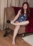 On her couch, Annabelle Lee get naked and fun  - picture #2