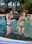 Annabelle Lee and Taliah Mac make out at the pool - picture #4