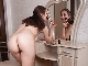Baby Boom strips naked while putting on makeup
