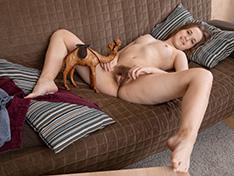 Alice Bright strips naked enjoying her camel