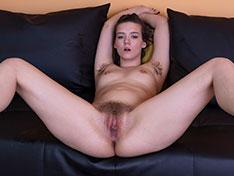Sonya Rose slides off her silk pajamas