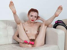 Eva Strawberry masturbates with her toy