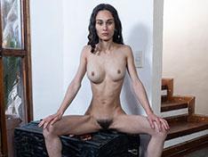 Amanda Carol poses in her sexy black panties