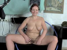 Ranunculus enjoys her workout and masturbating