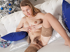 Stella looks amazing in her dress and stockings