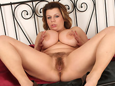 Vanda busts out of her silky dress