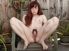 Annabelle Lee waters her plants and strips naked