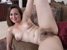 Kelly Morgan strips naked in her living room