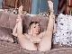 Sasha K strips naked on her lonely sofa