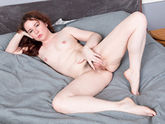 Annabelle Lee strips naked in her bedroom