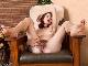 Aislynn strips naked on her armchair