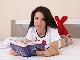 Ralina strips naked while enjoying a book